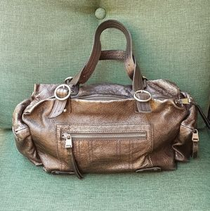 Sondra Roberts leather satchel bag.